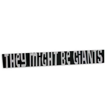 They Might Be Giants - TMBG Black & White Sticker 3 Pack - Spring Cleaning Sale