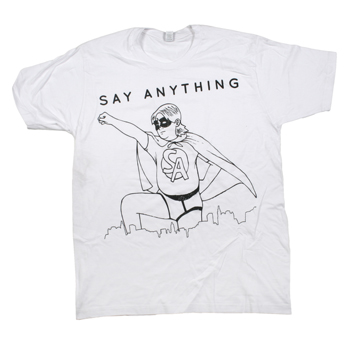 Say Anything - Superhero on White Fine Jersey Slim Fit - T-shirts