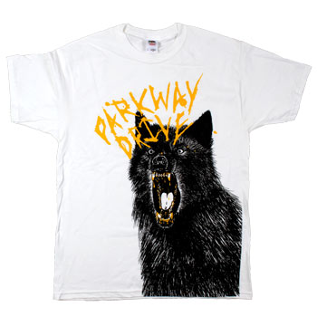 Parkway Drive - Wolf Sketch on White - T-shirts