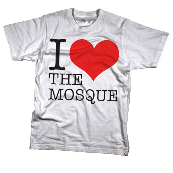 Sparrow Media - I Love The Mosque on White Apparel Fine Jersey  - T-shirts