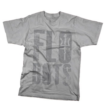 Flobots - Trident Logo on Grey Slim Fit Fine Jersey - T-shirts