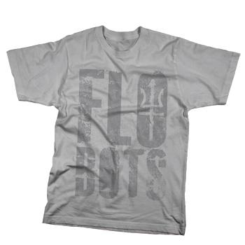 Flobots - Trident Logo on Grey Slim Fit Fine Jersey - T-shirts