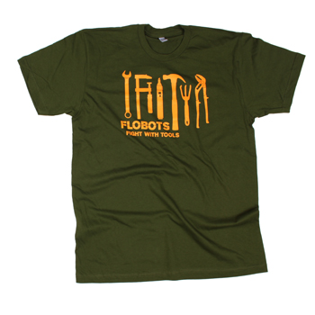 Flobots - Fight With Tools on Green Slim Fit Fine Jersey - T-shirts