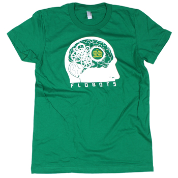 Flobots - Thinking on Green Slim Fit Fine Jersey - Women's
