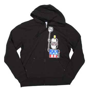 Flobots - Flobot Robot on Black Zip Up - Sweatshirts