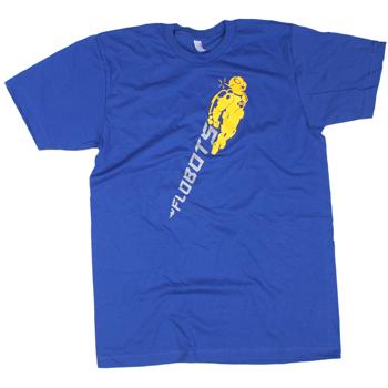 Flobots - 303 Robot on Blue Slim Fit Fine Jersey - T-shirts