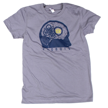 Flobots - Thinking on Grey Slim Fit Fine Jersey - Women's