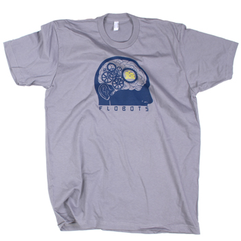 Flobots - Thinking on Grey Slim Fit Fine Jersey - T-shirts