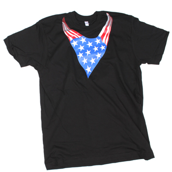 Flobots - Bandanna Flag on Black Slim Fit Fine Jersey - T-shirts