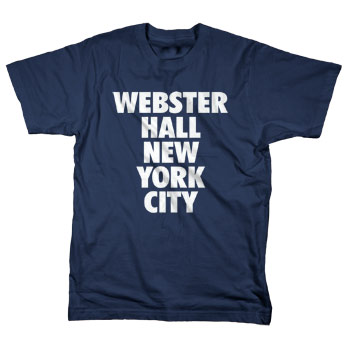 Webster Hall - Webster Hall Classic Tee on Navy - T-shirts
