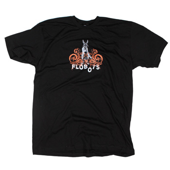 Flobots - Brer Rabbit on Black Slim Fit Fine Jersey - T-shirts