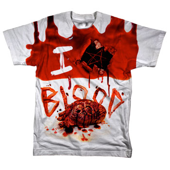 Bleeding Star Clothing - I <3 Blood on White - T-shirts