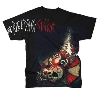 Bleeding Star Clothing - Nightglow on Black - T-shirts