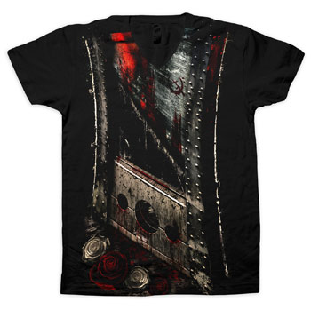 Bleeding Star Clothing - Slash on Black V-Neck - T-shirts