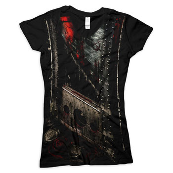 Bleeding Star Clothing - Slash on Black V-Neck - Women's