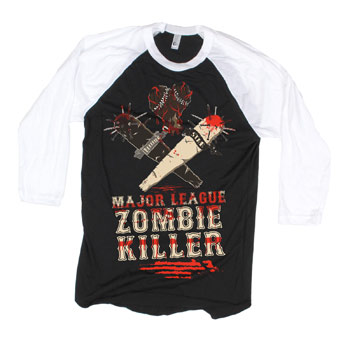 Bleeding Star Clothing - Zombie Ball on Baseball Tee - T-shirts