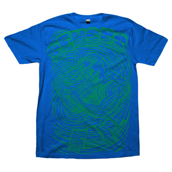 Senses Fail - Melting Man Green on Royal Blue - T-shirts