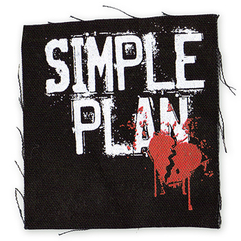 Simple Plan - Broken Heart Patch Canvas Patch - Accessories
