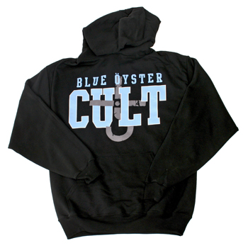 Blue Oyster Cult - Blue Logo on Black Pullover - Sweatshirts