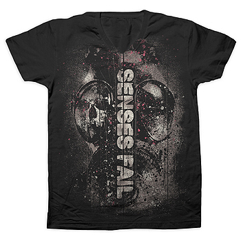 Senses Fail - Outbreak Fine Jersey Slim Fit V-Neck - T-shirts