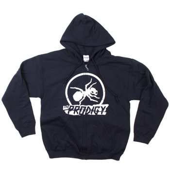 The Prodigy - Torn Ant Logo Design on Navy Zip Up - Sweatshirts