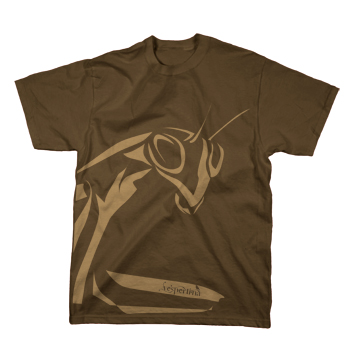 Vespertina - Mantis on Brown - T-shirts