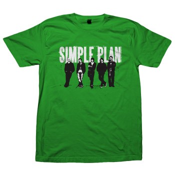 Simple Plan - Band on Green - T-shirts