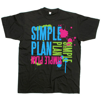 Simple Plan - Splash on Black - T-shirts