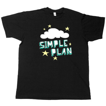 Simple Plan - Cloud on Black - T-shirts