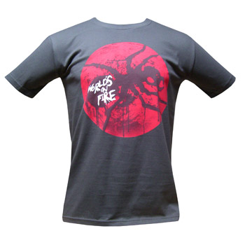 The Prodigy - Worlds On Fire Red Glow on Grey - T-shirts