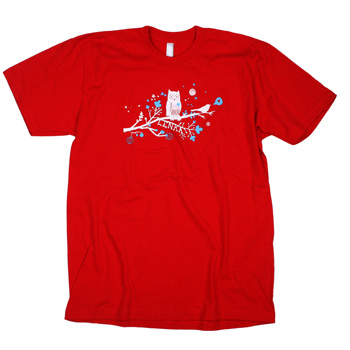 Lenka - Love Birds on Red - T-shirts