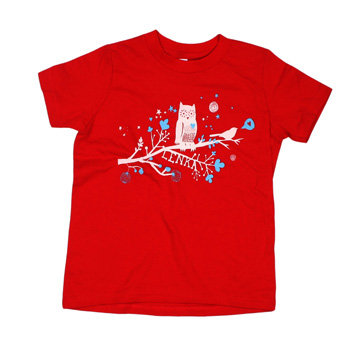Lenka - Love Birds Toddler T Shirt on Red - Baby