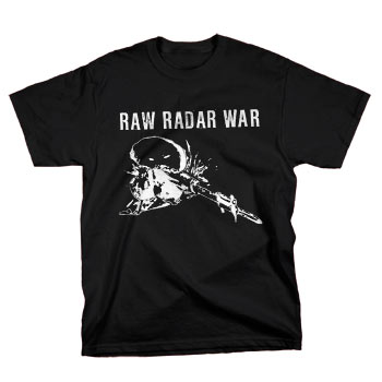 RAWRADARWAR - On a Field on Black - T-shirts