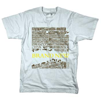Brand New - Arial Map on Grey - T-shirts