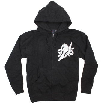 Bayside - Bird Logo on Charcoal Zip-Up - Sweatshirts