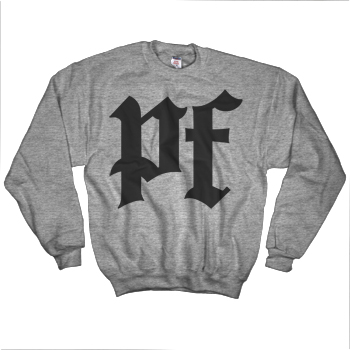 Pitchfork - PF Logo Sweatshirt on Heather Grey - Sweatshirts
