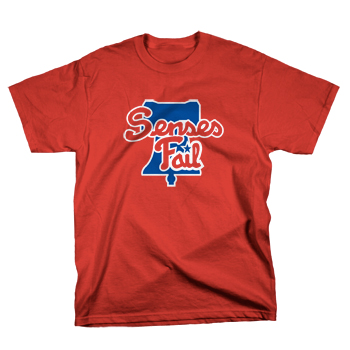 Senses Fail - Dunnigan Benefit on Red - T-shirts
