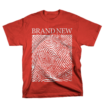 Brand New - Fingerprints on Red - T-shirts