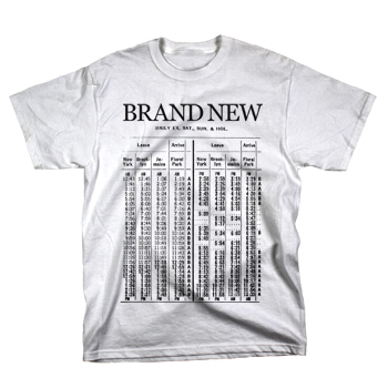 Brand New - Train on White - T-shirts