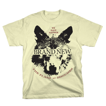 Brand New - Wolf on Natural - T-shirts
