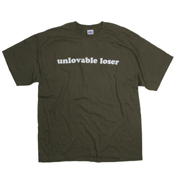 MC Lars - Unlovable Loser on Army - T-shirts
