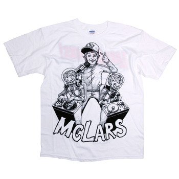 MC Lars - Mars DJ on White - T-shirts