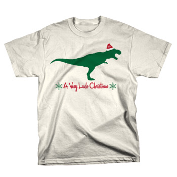 Ludo - Xmas Rex on Natural - T-shirts