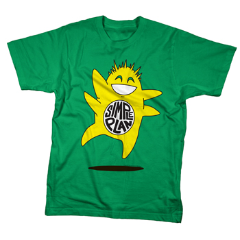 Simple Plan - Monster on Green - T-shirts