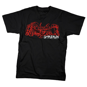 Simple Plan - Stage on Black - T-shirts