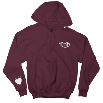 Graffiti6 - Zip Up Hoodie on Maroon - Sweatshirts