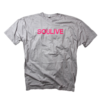 Soulive - Neon Pink on Silver - T-shirts