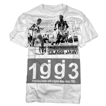 Glassjaw - Greyband on White Slim Fit Fine Jersey - Sale Items