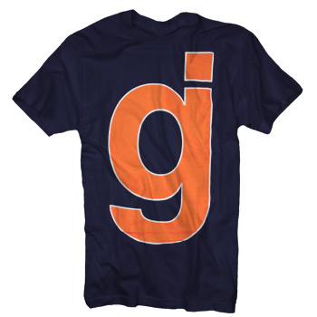 Glassjaw - GJ Outline on Navy - Sale Items
