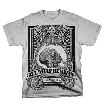 All That Remains - Head Crest on Heather Grey - T-shirts